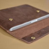 "Sleeve Case Laptop Apple Macbook Pro 13"" Genuine Leather"