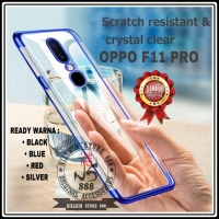 OPPO F11 PRO PLATING LIST COLOR SOFT JELLY CASE TRANSPARAN SOFTCASE