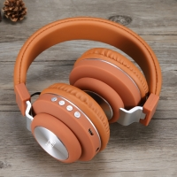Headphone Bluetooth JBL handsfree headset bluetooth wireless HM-07 - Coklat