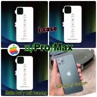 iPhone 11 / Pro / Pro Max anti gores belakang matte doff / anti cemong