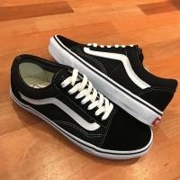Sepatu Vans Oldskool Classic Black White Global Original