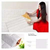 Brick Foam 3D Wallpaper Foam Bata Putih