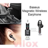 baseus handsfree earphone wireless bluetooth single magnetic charger