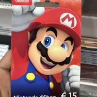 Nintendo eShop Card 15€ Region Europe