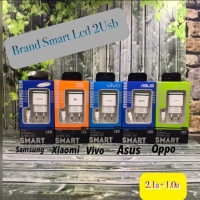 Tc Travel Charger SmartLed Brand 2Usb 2.1a Samsung Xiaomi Oppo Vivo As