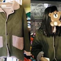 Coat winter army green