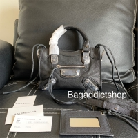 BagAddict Tas BALENCIAGA* Edge City Mini Black SHW Mirror Import VIP