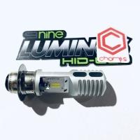 Lampu Bohlam LED H6 M5 Luminos 9nine Motor Bebek Matic 2 sisi MH1 Pnp