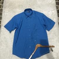 Kemeja casual polo / kemeja pendek biru laut