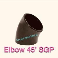 "4"" Elbow / Knee Las SGP ( 4 inch ) - Keni ( 45 derajat ) CS - Besi"