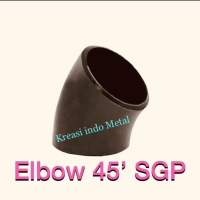 1/2 inch Elbow / Knee Las SGP ( 45 derajat ) Carbon steel ; Besi
