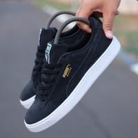 Sepatu Original Puma Suede Black Black White