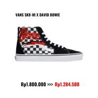 Sepatu Sneaker Pria Vans Sk8-Hi x David Bowie Brand New Original