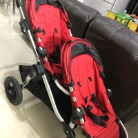 Stroller Baby Jogger City Select Tandem / double / twins red color