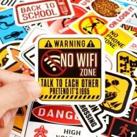 Stiker Koper Reminder Sign Stickers Warning Banning Symbol 50Pcs /SET