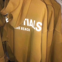Fear Of God Essentials Long Beach 3M Yellow Hoodie