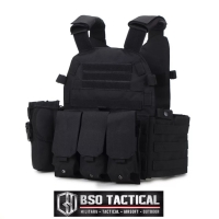 Rompi Tactical 6094 Style Body Vest with Triple Magazine Pouch Set