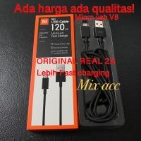 Kabel data Xiaomi original 100% 2A 120CM 1.2m Up to 2A Real Micro usb
