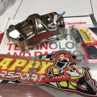 Kaliper brembo kanan saja GP4RX chrome full cnc original Italy 100mm