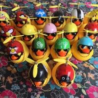 Bebek Helm Viral Bisa Nyala + Kalung + Kacamata + Baling Baling