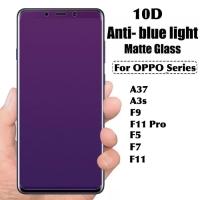 Tempered glass anti blue light full 10D OPPO A3S A37 F5 F7 F9 F11 Pro