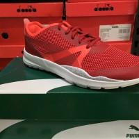 SALE Puma Duplex Evo Ftur Minimal Wn's Red Original Sepatu Olahraga