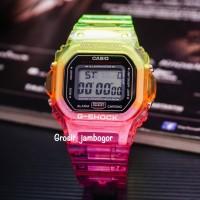 JAM TANGAN SPORT G SHOCK DW5600 GLS DIGITAL Segi Rainbow LED LIGHT