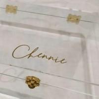 Bridesmaids Box akrilik groomsmen box akrilik kotak sangjit lamaran
