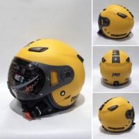 Helm JPN momo kuning doff kaca pilot