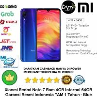 Xiaomi Redmi Note 7 4GB/64GB 4/64 GB-Garansi-Resmi-TAM-BLUE