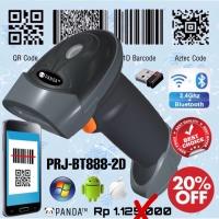 2D PRJ-BT888 Wireless Barcode Scanner QR Code-E-Faktur(Bluetooth+2.4G)
