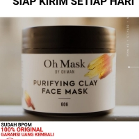 OH MAN OH MASK PURIFYING CLAY MASK MASKER WAJAH PRIA BY OH MAN BPOM