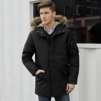 Jaket Old Navy Goose Down Hooded Parka Jacket Black Original Winter