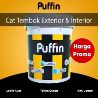 cat tembok exterior Puffin Plus 5kg hasil akhir matt