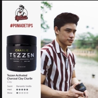 100% ORIGINAL POMADE TEZZEN CHARLIE ACTIVATED CHARCOAL CLAY