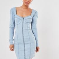 "Dress Denim Import Merk Inggris ""Missguided"" UK Size 14(M)"