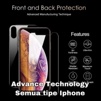 Back Front Tempered Glass depan belakang Iphone X Xr Xs 11 11 pro Max