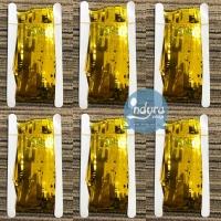 Backdrop Foil / Tirai Rumbai Gold / Fringe Curtain / Tirai Foil Gold