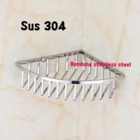 Sus 304 Rak tempat sabun kawat sudut stainless steel shampo kamar mand