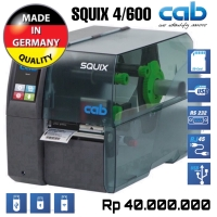 CAB SQUIX 4/600 THERMAL TRANSFER RIBBON BARCODE LABEL PRINTER-600 DPI
