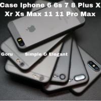 Hard case Iphone X Xs Xr 11 11 Pro Max 6 6s 7 8 plus blur Slim Casing