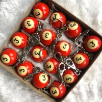Gantungan kunci bola bilyar No. 3/ keychain keyring