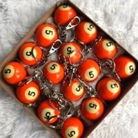 Gantungan kunci bola bilyar No.5/ keychain keyring