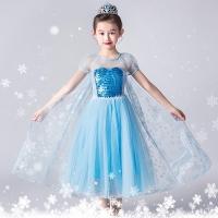 Baju Elsa Frozen tangan pendek CG53