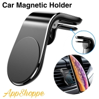 Magnetic Car Phone Holder L Shape Clip Air Vent Mount for Smartphones