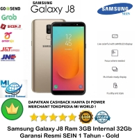 Samsung Galaxy J8 3GB/32GB 3/32gb 3/32 Garansi Resmi Sein-Gold-Emas
