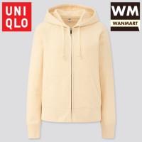 UNIQLO Women Jacket Sweat Hoodie Retsleting Jaket Wanita Off White