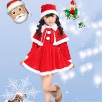 Baju kostum santa claus christmas anak perempuan