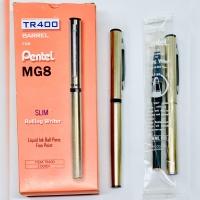 Bolpen / Pulpen Pentel Rolling Pen TR 400 MG8 (pcs) Include Refill