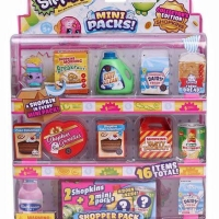 TERMURAH!! SHOPKINS MINI PACKS SHOPPER PACK 16 ITEMS TOTAL ORIGINAL